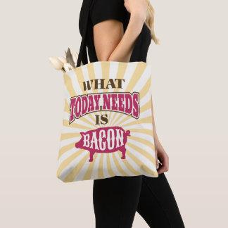 Bolsa Tote Bacon engraçado Meme do estilo do vintage