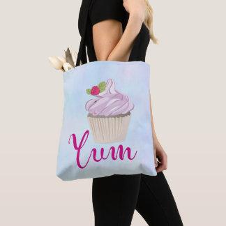 Bolsa Tote Baga cor-de-rosa deliciosa do cupcake na parte