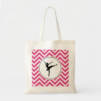 Bolsa Tote Bailarina branca cor-de-rosa do En Pointe de