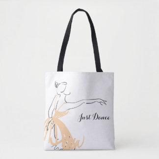 Bolsa Tote Bailarina no pêssego macio