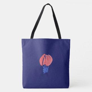 Bolsa Tote Balão de ar toda sobre - imprima a grande sacola