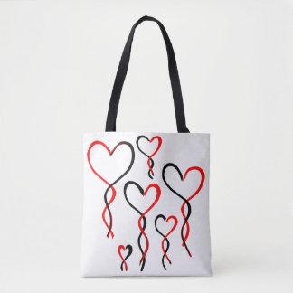 Bolsa Tote Balões do coração