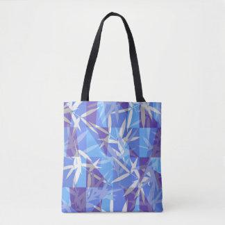 Bolsa Tote Bambu no teste padrão geométrico azul