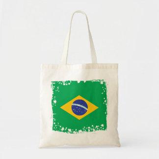Bolsa Tote Bandeira abstrata de Brasil, cores brasileiras