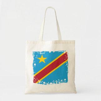 Bolsa Tote Bandeira abstrata de Congo, a República