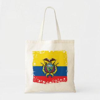 Bolsa Tote Bandeira abstrata de Equador, república do saco de
