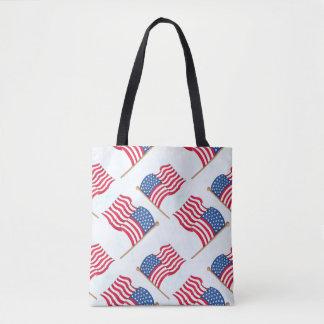 Bolsa Tote Bandeira americana 4o do azul branco vermelho de