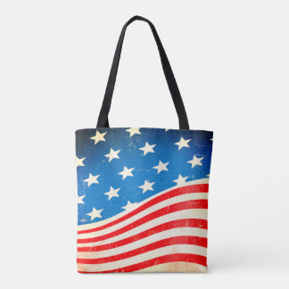 Bolsa Tote Bandeira americana do vintage