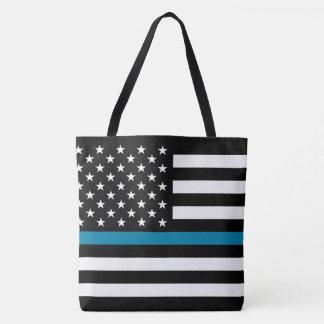 Bolsa Tote Bandeira americana fina de Blue Line