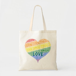 Bolsa Tote Bandeira da lareira do arco-íris de LGBT ilustrada