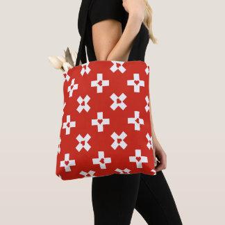 Bolsa Tote Bandeira da suiça com teste padrão do coração