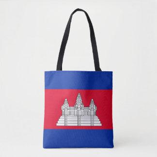 Bolsa Tote Bandeira de Cambodia
