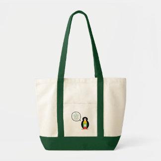 Bolsa Tote Bandeira de fala do pinguim do birmanês ou do