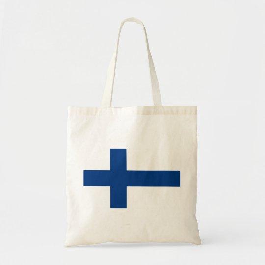 Bolsa Tote Bandeira de Finlandia (lippu de Suomen, flagga de