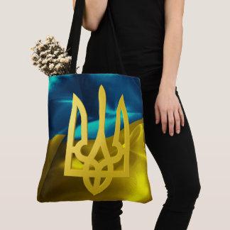 Bolsa Tote Bandeira de Ucrânia 3D e sacola de Tryzub