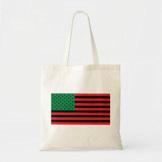 Bolsa Tote Bandeira do afro-americano - preto e verde