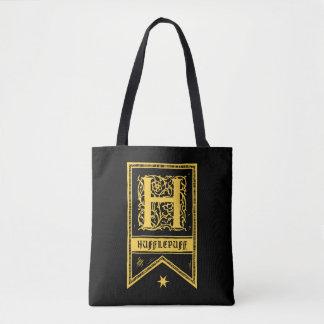 Bolsa Tote Bandeira do monograma de Harry Potter | Hufflepuff