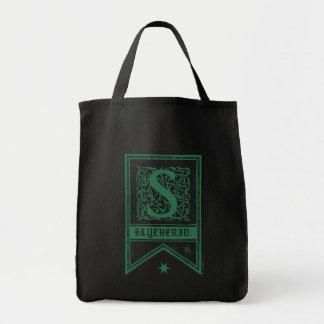 Bolsa Tote Bandeira do monograma de Harry Potter | Slytherin