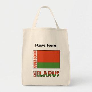 Bolsa Tote Bandeira e Belarus bielorrussos com nome
