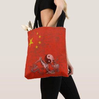 Bolsa Tote Bandeira e símbolos de China ID158