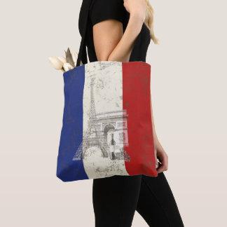 Bolsa Tote Bandeira e símbolos de France ID156