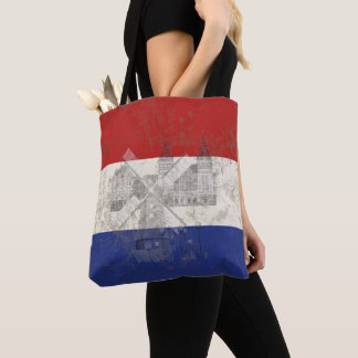 Bolsa Tote Bandeira e símbolos dos Países Baixos ID151