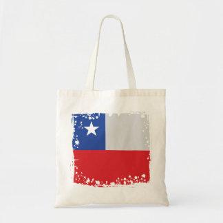 Bolsa Tote Bandeira em um saco, cores chilenas simples do