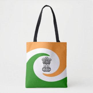 Bolsa Tote Bandeira espiral indiana