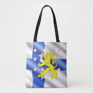 Bolsa Tote Bandeira finlandesa