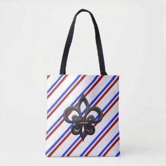 Bolsa Tote Bandeira francesa das listras