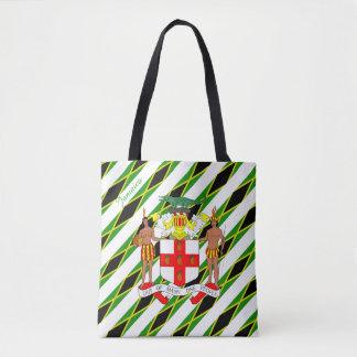 Bolsa Tote Bandeira jamaicana das listras