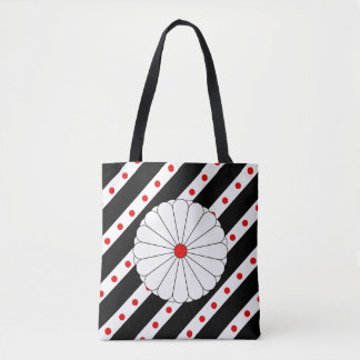 Bolsa Tote Bandeira japonesa das listras