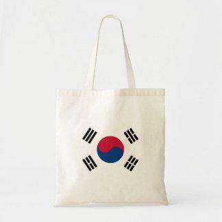 Bolsa Tote Bandeira nacional do mundo de Coreia do Sul