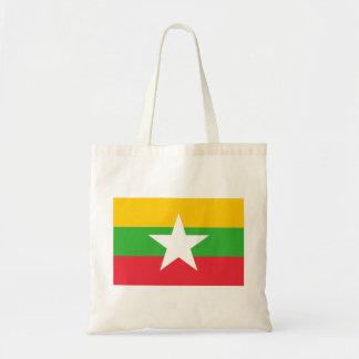 Bolsa Tote Bandeira nacional do mundo de Myanmar