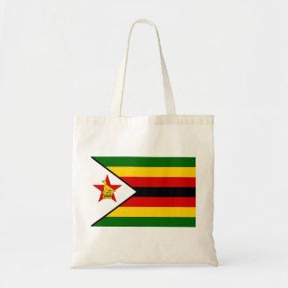 Bolsa Tote Bandeira nacional do mundo de Zimbabwe