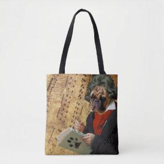 Bolsa Tote Barkthoven - o pug de Beethoven