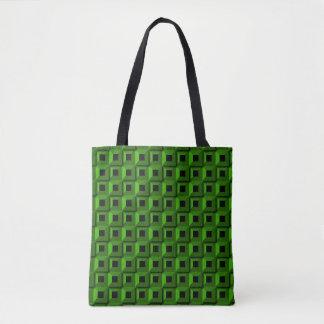 Bolsa Tote Barnacle no verde por todo o lado na sacola do