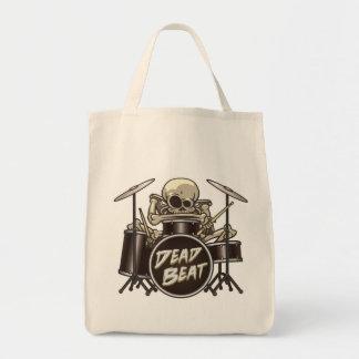 Bolsa Tote Baterista de esqueleto engraçado