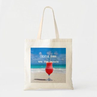 Bolsa Tote Bebida do cocktail na praia