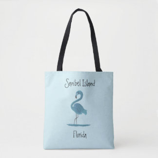 Bolsa Tote Belas artes do flamingo de turquesa - ilha de