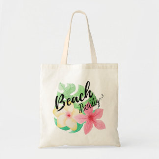 Bolsa Tote Beleza da praia - folhas de palmeira