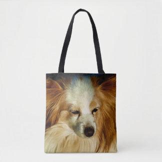 Bolsa Tote Beleza de Papillon - raça do cão
