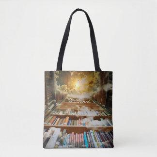 Bolsa Tote Biblioteca infinita Mystical que escala ao céu