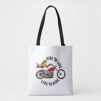 Bolsa Tote biker motard ride to live