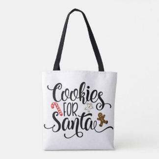 Bolsa Tote Biscoitos para a sacola do papai noel