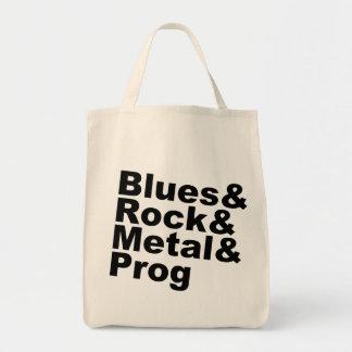 Bolsa Tote Blues&Rock&Metal&Prog (preto)