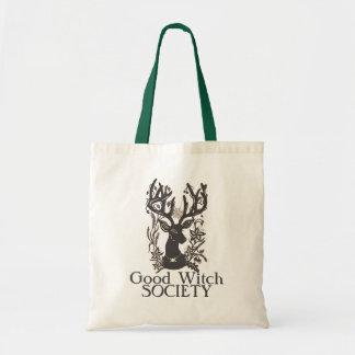 Bolsa Tote Boa sacola dos cervos da sociedade da bruxa