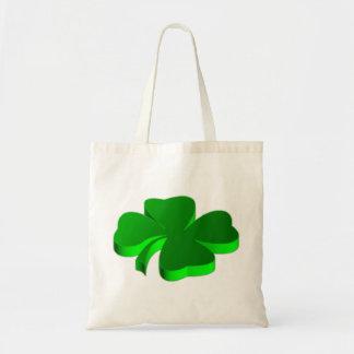 Bolsa Tote Boa sorte do símbolo afortunado do verde do trevo