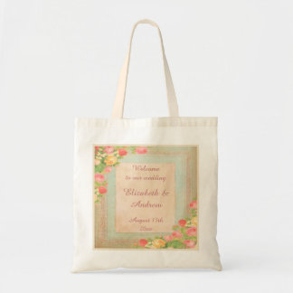 Bolsa Tote Boa vinda elegante dos rosas do vintage