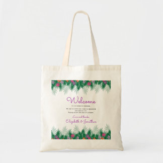 Bolsa Tote Boa vinda Wedding tropical das flores |